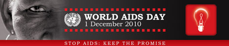 Banner: UN World Aids Day