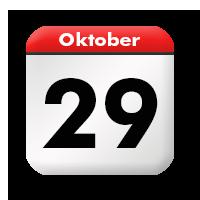 Sonntag 29 Oktober 2017 Kalender Stilkunstde