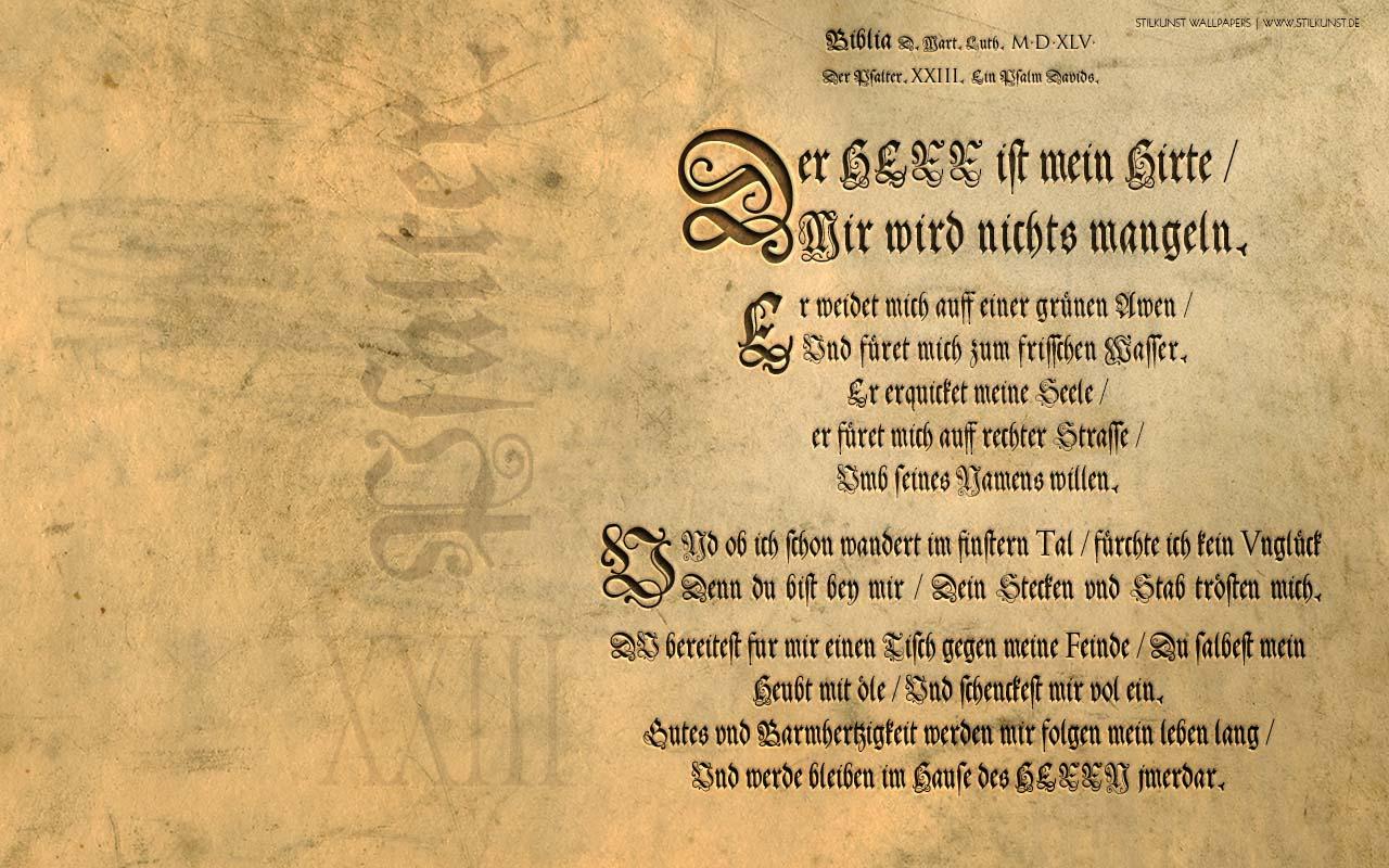 Psalm 23 Lutherbibel