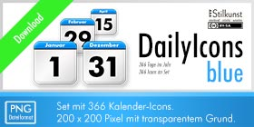 Titelbild Download DailyIcons blue