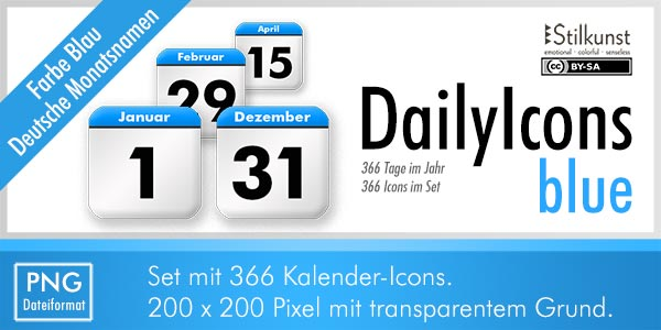 Titelbild DailyIcons blue | Title DailyIcons blue