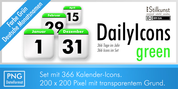 Titelbild DailyIcons green | Title DailyIcons green