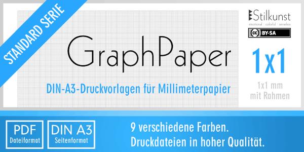 Druckvorlage Din A3 Graphpaper Millimeterpapier Stilkunst De