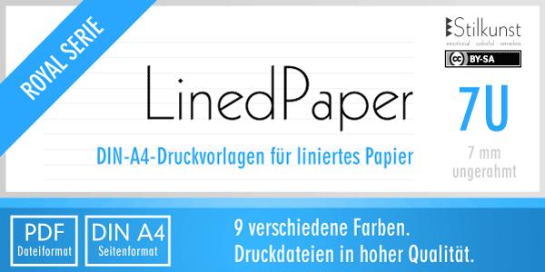 Druckvorlage Din A4 Liniertes Papier 7 Mm Stilkunstde