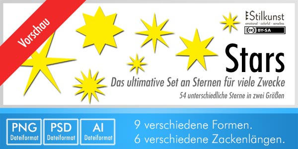 Stilkunst Grafik-Set Stars | Graphic set stars